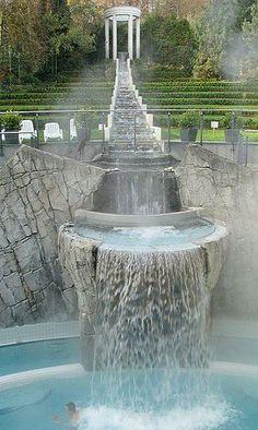 Thermal Waterfall Spa, Aachen, Germany! Pinterest → @leahmarson123