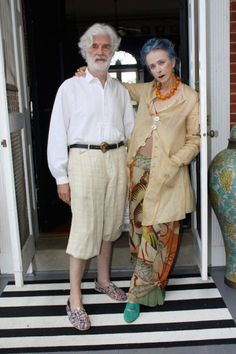 Beatrix Ost « StyleLikeU - I love the idea of these two people. I hope someone will love me as I get older and crazier.