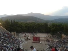 Epidaurus ancient theater, Pluto by Aristophane