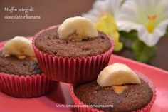 Muffin integrali cioccolato e banana