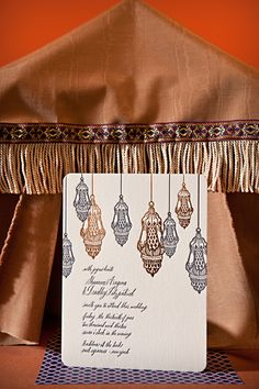 Our Moroccan Romantic design (complete with copper foil!) as seen on Green Wedding Shoes. | Photography by Alice Patterson
