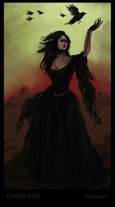 The Morrigan is 'The Phantom Queen' of Irish Celtic legend
