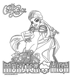 1000 images about un max de coloriages on pinterest anti stress noel and monster high - Monster high noel ...