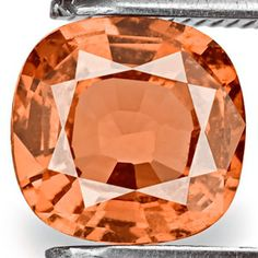 Padparadscha Sapphire - This very rare color of sapphire (orange / pink / peach) is highly prized by gem collectors.  Gems over one carat sell for thousands per carat.  Few mines in the world are yielding this kind of gem. Gorgeous.