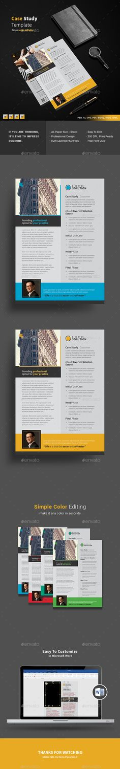 Case Study Template  Design    Template Freelance