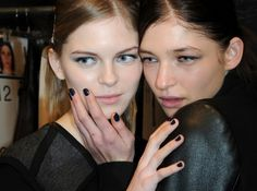 Ultimate Navy Nails - Milly Fall 2012 Runway Show