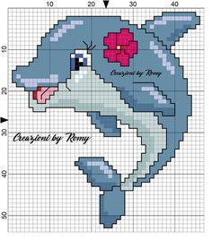 Dolphin for rug Free Cross Stitch Charts, Cross Stitch For Kids, Mini Cross Stitch, Cross Stitch Cards, Cross Stitch Animals, Cross Stitching, Cross Stitch Embroidery, Cross Stitch Designs, Cross Stitch Patterns