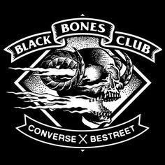 Instagram media yaiagift - The last piece of my Black Bones Club trinity. Follow @bestreet for all the details on the event. #yaia #sur #0341 #blackbonesclub #paris #converse #bestreet