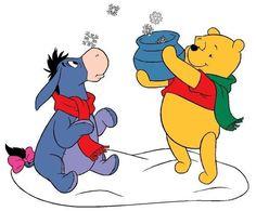Winnie Pooh y sus Amigos Winnie The Pooh Christmas, Cute Winnie The Pooh, Winnie The Pooh Friends, Pooh Bear Characters, Walt Disney Characters, Bear Pictures, Cute Pictures, Eeyore, Tigger