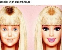 Barbie Without Makeup - NoWayGirl