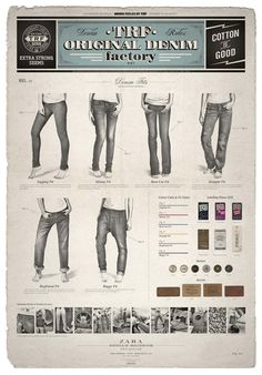 #Logos #Retro Oldschool jeans illustration and page layout...