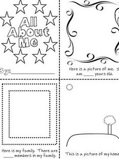 All about me book for first grade. Simple, great!