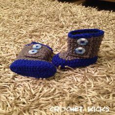 my alvin booties - by CROCHET KICKS Baby Shoes, Slippers, Booty, Crochet, Ivy, Kicks, Fashion, Crocheting, Moda