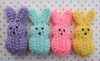 Ravelry: Easter Marshmallow Bunnies pattern by Doni Speigle ウサギ amigurumi Crochet Bunny Pattern, Easter Crochet Patterns, Crochet Motifs, Amigurumi Patterns, Cute Crochet, Crochet Yarn, Crochet Toys, Crochet Rabbit, Learn Crochet