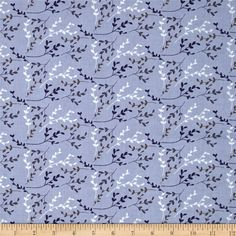 Fabric Freedom Springtime Floral Viney Sprigs Blue from @fabricdotcom  Designed by Fabric Freedom, this cotton print fabric is perfect for quilting, apparel and home decor accents. Colors include indigo, denim, grey, brown, and white.
