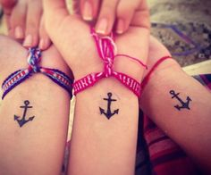 BFF anchor tats ⚓️