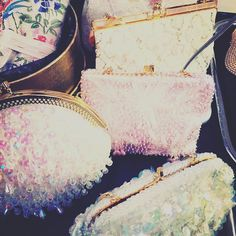 GORGEOUS #vintage beaded bags! Love love love - are you joining us #York tomorrow #yorkdoesvintage #bdvoutandabout #vintagefairs