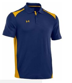 Under Armour Men's Team Colorblock Polo Golf Shirt 1243082 (Navy/Gold, M), Size: Medium, Black Polo T Shirts, Golf Shirts, Under Armour Team, Polo Shirt Design, Camisa Polo, Golf Fashion, Golf Outfit, Ladies Golf, Sportswear