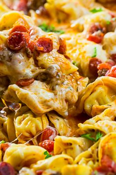 One Pot Meaty Tortellini Recipe Best Dinner Recipes Ever, Delicious Dinner Recipes, Easy Family Meals, Easy Meals, Family Recipes, Gourmet Recipes, Cooking Recipes, Healthy Recipes, Linguine