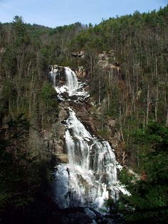 Upper Whitewater Falls, Sapphire NC.  Not far from South Carolina. This is a beautiful waterfalls; been there many times since I lived in Western SC