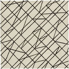 CB2 Line Work Rug 6'x6' ($349) ❤ liked on Polyvore featuring home, rugs, chunky rug, patterned rugs, cb2 and textured rug