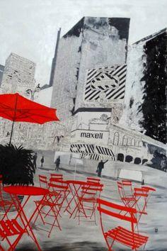 "Saatchi Art Artist Nicole Theresia Spitzwieser; Painting, ""New York"" #art"