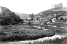 Photo of Sandplace, Looe Valley 1901 from Francis Frith Looe Cornwall, Devon And Cornwall, Photo Postcards, Old Photos, Country Roads, Black And White, Book, Nature, Outdoor