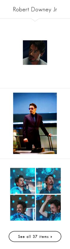 """""""Robert Downey Jr"""" by sapphirejones ❤ liked on Polyvore featuring tony stark, avengers, marvel, superheroes, heros, iron man, avengers assemble, pictures, boys and people"""