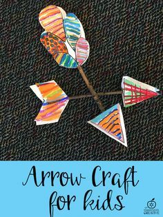 I created a fun Native American inspired arrow craft for kids for your Native American units!