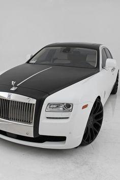 Black & white Rolls Royce, was Luci's car.