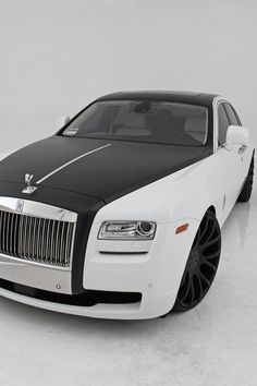 Black & white Rolls Royce, was Luci's car.