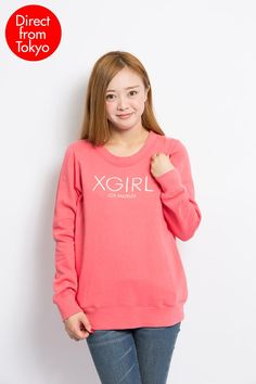 X-GIRL Los Angeles Pullover -Embroidery logo -Side pockets -Available in 6 colours