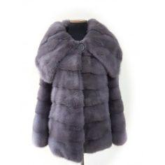 100% Mink fur coat Kopenhagen Furs color grafite manufacture Greece factory factory Dmb Fur Fashion.