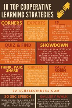 10 Top Cooperative Learning Strategies (and some tech tools that could come in handy) – EDTECH 4 BEGINNERS Differentiated Instruction Strategies, Cooperative Learning Strategies, Experiential Learning, Collaborative Strategies, Cooperative Education, Learning Skills, Teaching Methods, Teaching Strategies, Teaching Resources