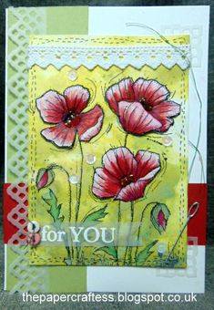 Stitched Poppies by thepapercraftess - Cards and Paper Crafts at Splitcoaststampers Remembrance Day, Distress Oxides, Tim Holtz, Cardmaking, Poppies, Sketches, Paper Crafts, Stitch, Layouts