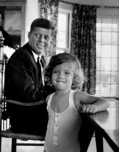 Lovely picture of JFK and daughter