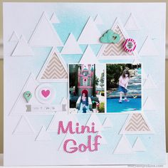 Mini Golf by @maryannjenkins for Chic Tags using the new Cloud 9 collection. maryannjenkins.com