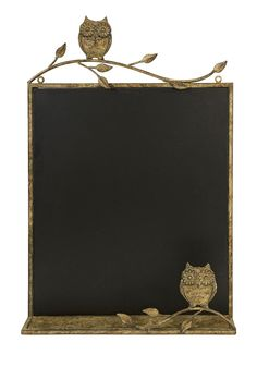 Rustic Owl Hanging Chalkboard Decor