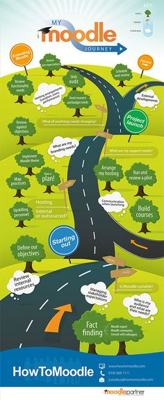My Moodle Journey Infographic