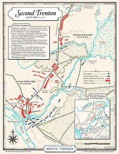 Map: Battle of Second Trenton·George Washington's Mount Vernon