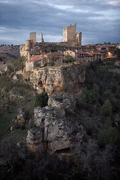 """Castles of Spain - Calatañazor, Soria, Spain. - The name Calatañazor comes from the Arab 'Qalat al-Nusur' which can either mean 'Castle of vultures'. Calatañazor is a municipality located in the province of Soria, Castile and León, Spain. In the valley between Calatañazor and Abioncillo the 'Battle of Calatañazor' took place in the year 1002. The valley is still named """"the valley of blood"""". Almanzor, the ruler of Muslim Al-Andalus is by some historians said to have died in this battle."""