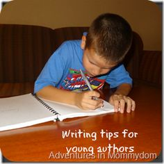 "Writing tips for young authors - it's not about being ""prefect."" #writing #kids"