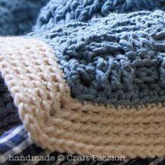 Crochet Basket Weave Afghan Baby Blanket - Pattern & Tutorial | Free Pattern & Tutorial at CraftPassion.com