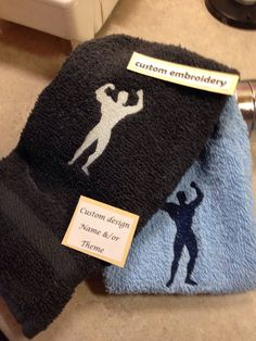 A personal favorite from my Etsy shop https://www.etsy.com/listing/245899142/body-builder-towel-sports