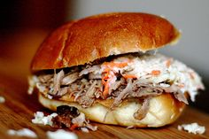 North Carolina Pulled Pork Sandwiches. As a Carolina girl, I can tell you that nothing is better than some North Carolina BBQ