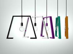 Lampada a sospensione in metallo verniciato BERLINE | Lampada a sospensione - Altinox Minimal Design