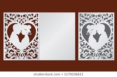 Openwork Box Lace Ornament Vector Bonbonniere Stock Vector (Royalty Free) 672989995 Cajas Silhouette Cameo, Silhouette Cameo Projects, Kirigami, Make Your Own Wedding Cards, Paper Cutting, Bicycle Wedding, Valentines Gift Box, The Knot, Baby Shower Crafts