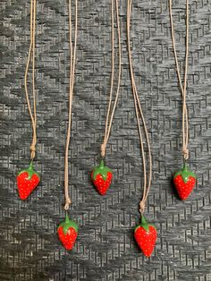 Red Jewelry, Pendant Jewelry, Pendant Necklace, Gifts For Women, Gifts For Her, Strawberry Farm, Banana Art, Vegan Gifts, Strawberries