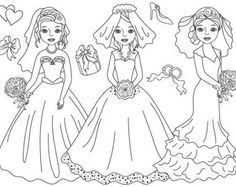 BUY 1 GET 1 FREE  Black & White Bride Clipart - Digital Vector Bride, Wedding, Romantic, Girl Clip Art for Personal and Commercial Use by thecreativemill. Explore more products on http://thecreativemill.etsy.com