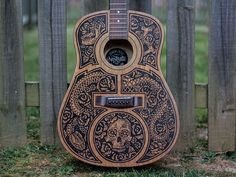 I love the look of this Acoustic Guitar Sharpie Art by Derrick Castle and you can see more of his work at dribbble.com/strawcastle and strawcastle.com!